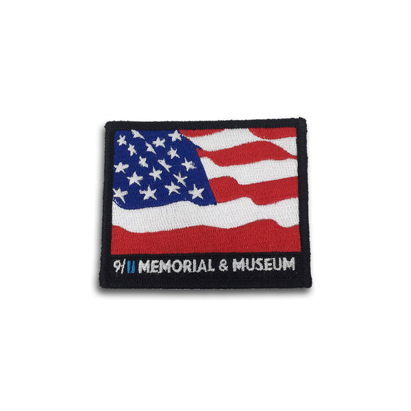 9/11 Memorial Embroidered Flag Patch