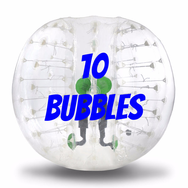10 PVC Bubbles Bubble Bump Soccer, bubble soccer green/geeen adult