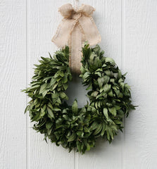 Organic Fresh Herb Holiday Wreaths and Garlands