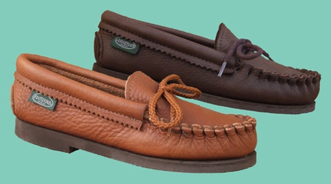 Children's Footwear Cowhide Moccasins Crepe Soles Sizes 8-13,1-3 Made in USA - Omni Gift Shop