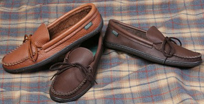 Men's Molded Sole Cowhide Leather Moccasins Cushion Insoles Made in USA - Omni Gift Shop