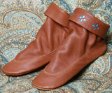 Women's Deertan Leather Pull-On Teepee Boots Cowhide Soles Handcrafted USA - Omni Gift Shop