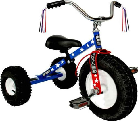 Child's Patriot Tricycle All Terrain Tires Wide Adjustable Seat Tilting Handle Bars Made in USA - Omni Gift Shop