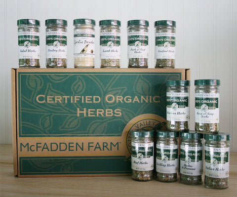 Assorted Organic Culinary Herb Blends 12 Jars Gift Box Organically Grown in the USA - Omni Gift Shop