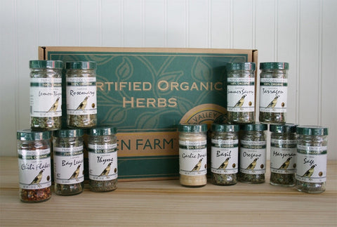 Assorted Organic Culinary Herbs 12 Jars GIft Box Organically Grown in the USA - Omni Gift Shop