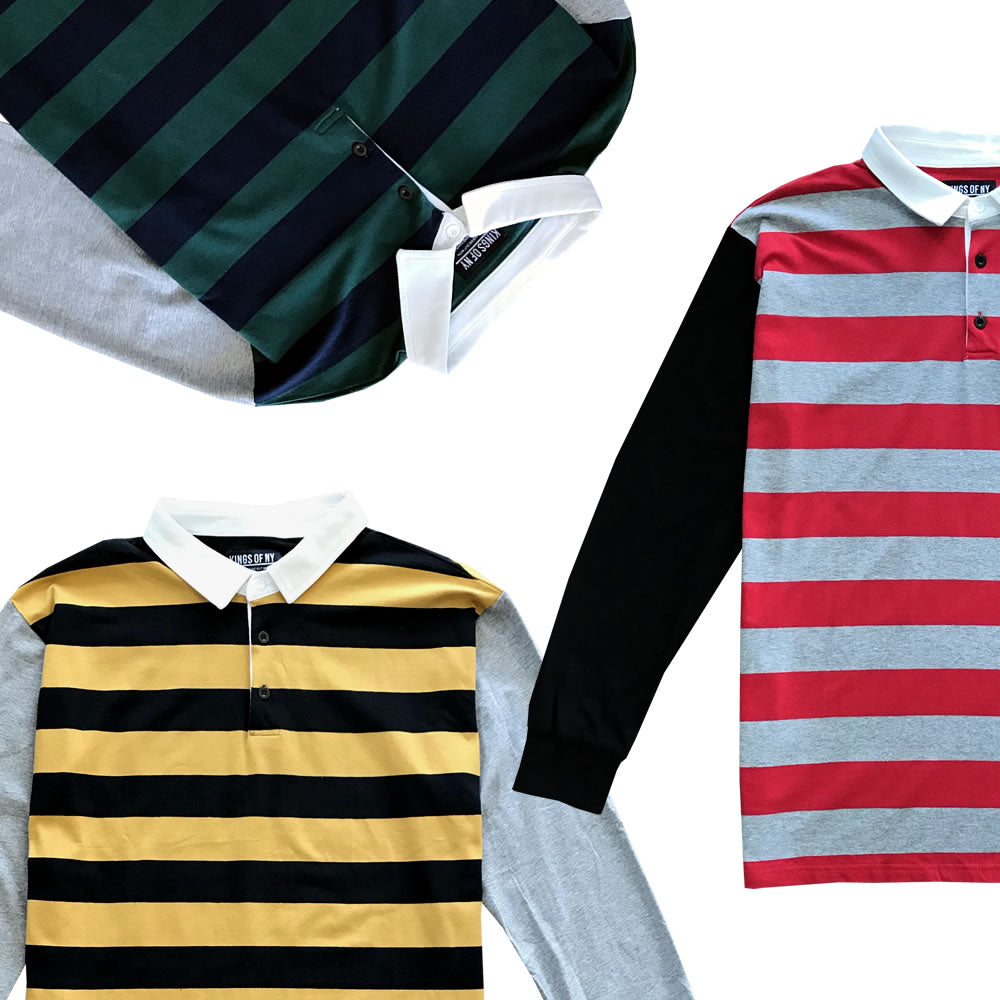 Striped Rugby Shirts and Striped Tees!
