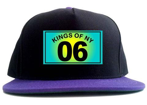 06 Gradient 2006 2 Tone Snapback Hat in Black and Purple by Kings Of NY