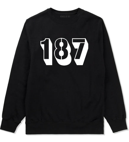 187 Crewneck Sweatshirt in Black by Kings Of NY