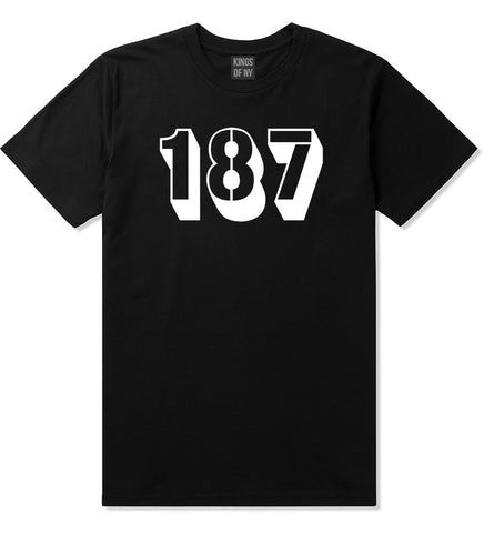 187 T-Shirt in Black by Kings Of NY