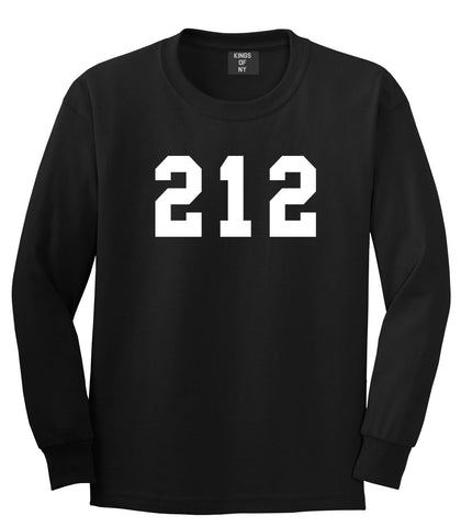 212 New York Area Code Long Sleeve T-Shirt in Black By Kings Of NY
