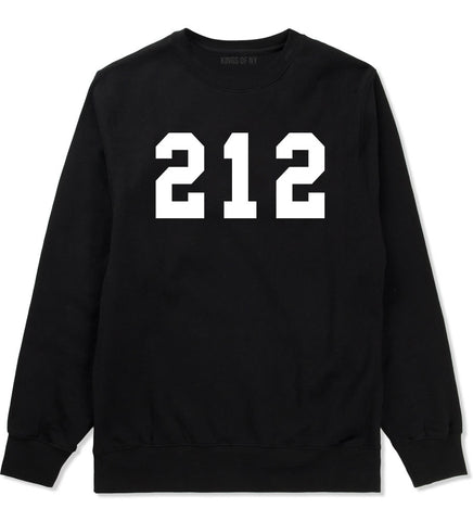 212 New York Area Code Boys Kids Crewneck Sweatshirt in Black By Kings Of NY