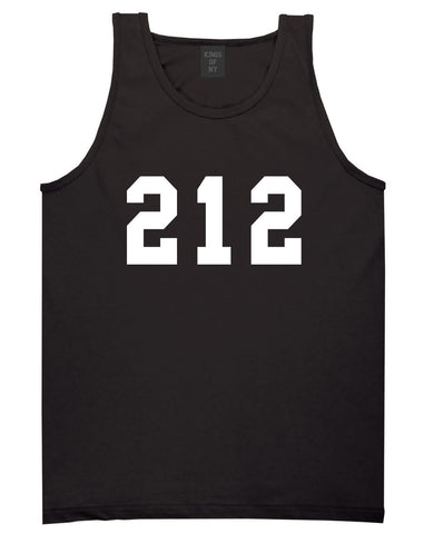 212 New York Area Code Tank Top in Black By Kings Of NY