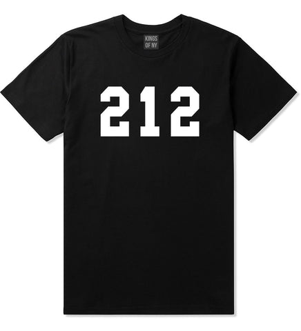 212 New York Area Code T-Shirt in Black By Kings Of NY
