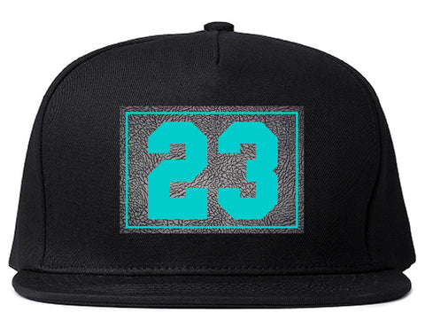 23 Cement Blue Jersey Snapback Hat By Kings Of NY