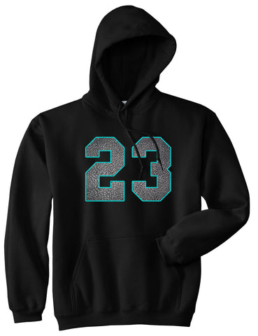 23 Cement Blue Jersey Pullover Hoodie in Black By Kings Of NY