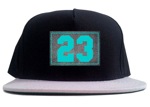 23 Cement Blue Jersey 2 Tone Snapback Hat By Kings Of NY