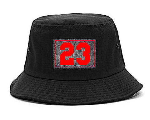 23 Cement Red Jersey Bucket Hat By Kings Of NY