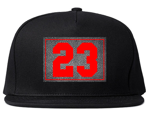 23 Cement Red Jersey Snapback Hat By Kings Of NY