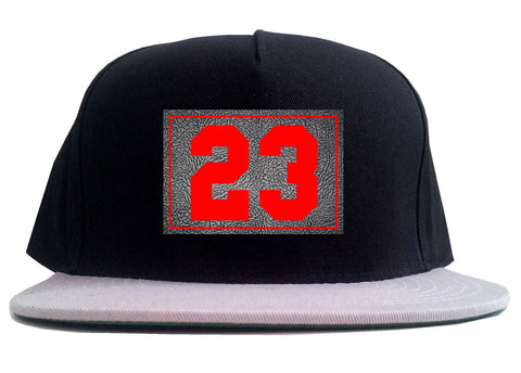 23 Cement Red Jersey 2 Tone Snapback Hat By Kings Of NY