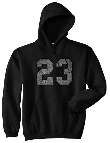 23 Cement Jersey Pullover Hoodie in Black By Kings Of NY