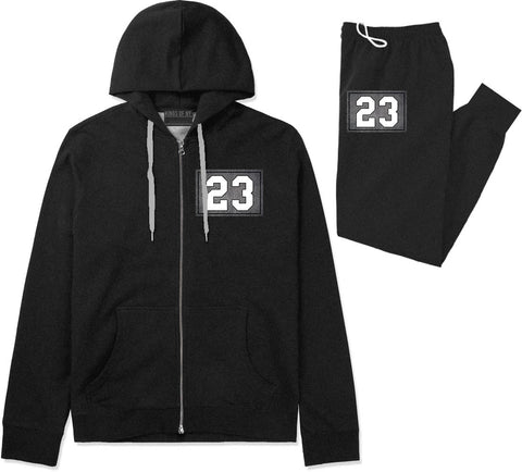 23 Cement Jersey Premium Sweatsuit in Black By Kings Of NY