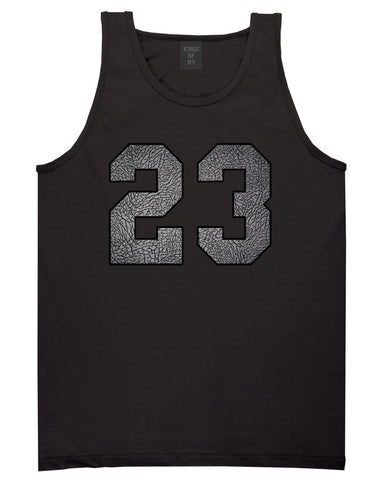 23 Cement Jersey Tank Top in Black By Kings Of NY