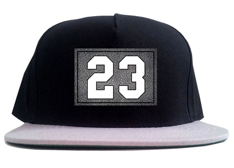 23 Cement Jersey 2 Tone Snapback Hat By Kings Of NY