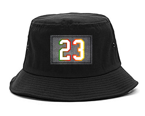 23 Cement Print Colorful Jersey Bucket Hat By Kings Of NY