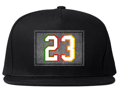 23 Cement Print Colorful Jersey Snapback Hat By Kings Of NY
