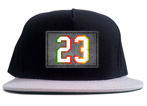 23 Cement Print Colorful Jersey 2 Tone Snapback Hat By Kings Of NY