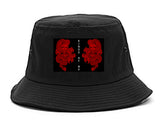 2_Chinese_Dragon Black Bucket Hat