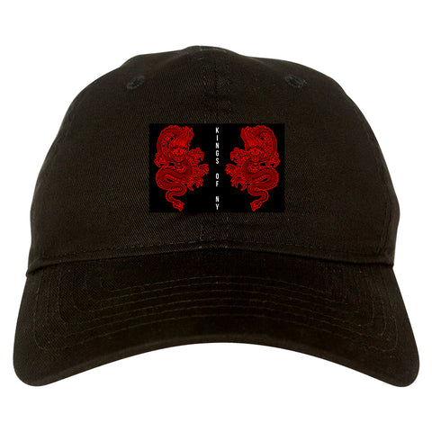 2_Chinese_Dragon Black Dad Hat
