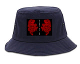 2_Chinese_Dragon Blue Bucket Hat