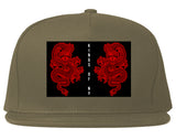 2_Chinese_Dragon Grey Snapback Hat