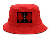 2_Chinese_Dragon Red Bucket Hat