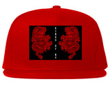 2_Chinese_Dragon Red Snapback Hat