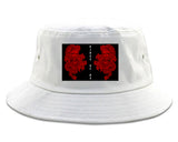 2_Chinese_Dragon White Bucket Hat