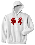 2 Chinese Dragon Pullover Hoodie in White