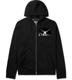 33 KINGS Zip Up Hoodie in Black