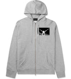 33 KINGS Zip Up Hoodie n Grey