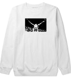 33 KINGS Crewneck Sweatshirt in White