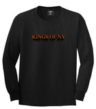3D Text Long Sleeve T-Shirt in Black