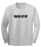 3D Text Long Sleeve T-Shirt in Grey