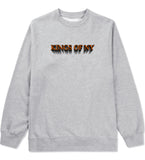 3D Text Crewneck Sweatshirt in Grey