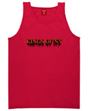 3D Text Tank Top in Red