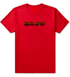 3D Text T-Shirt in Red