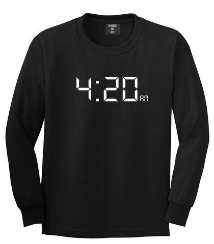 420 Time Weed Somker Long Sleeve T-Shirt in Black By Kings Of NY