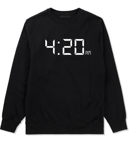 420 Time Weed Somker Boys Kids Crewneck Sweatshirt in Black By Kings Of NY