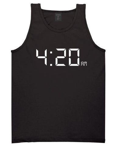 420 Time Weed Somker Tank Top in Black By Kings Of NY