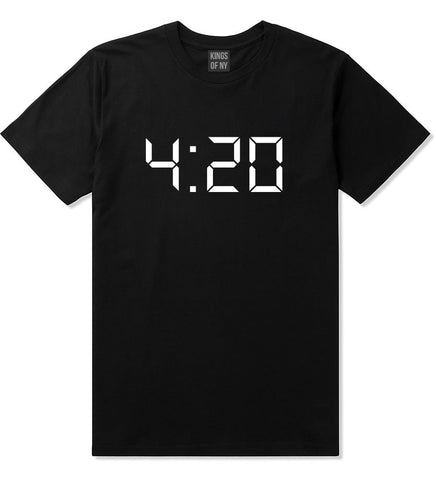 420 Time Weed Somker Boys Kids T-Shirt in Black By Kings Of NY